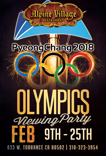 Winter Olympics Viewing Party at Alpine Village Feb 9 - 25