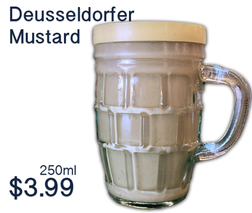 Düsseldorfer Mustard goes with all of your Oktoberfest food