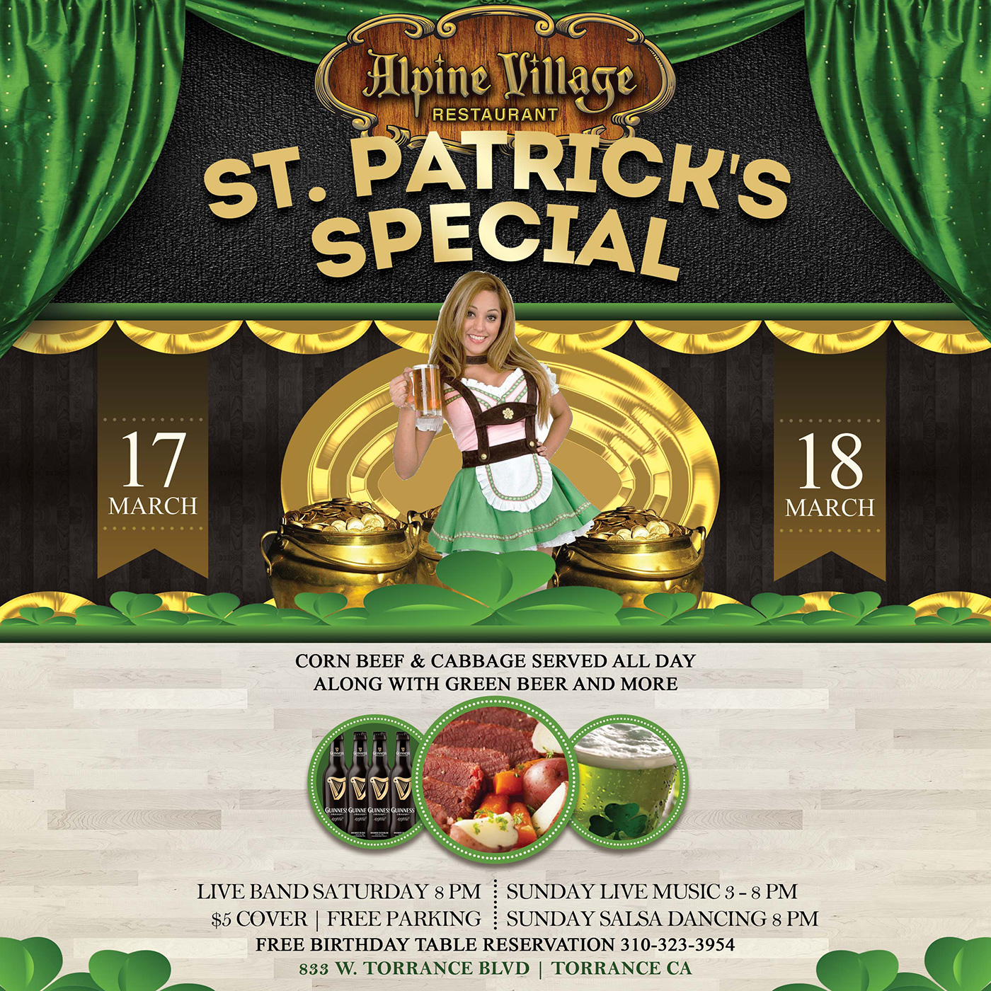St. Patrick's Special at Alpine Village in Torrance